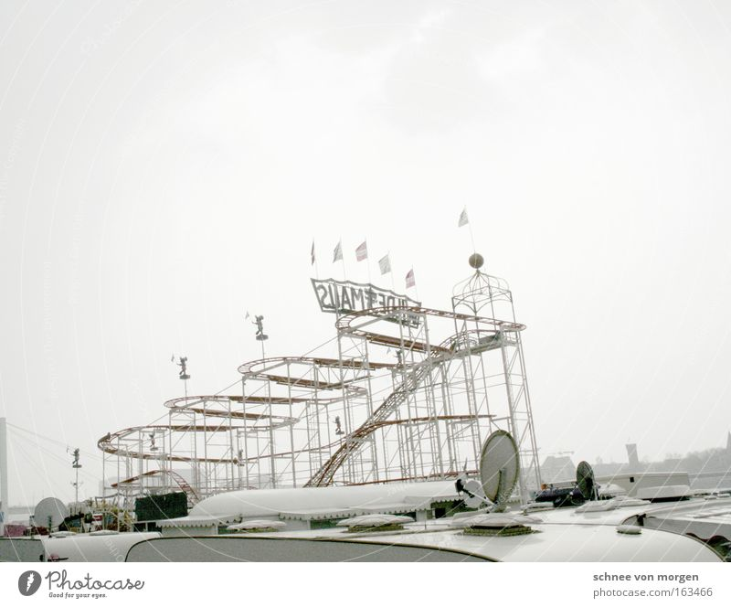 amusement rides Fairs & Carnivals Roller coaster Tall Height Caravan Life Sky Bright Theme-park rides Playing Aviation