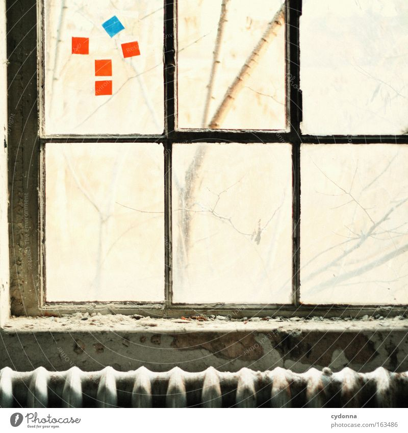 Window Freedom Glass Time Romance Decoration Transience Longing Derelict Decline Past Symbols and metaphors Thought Heater Heating Vacancy