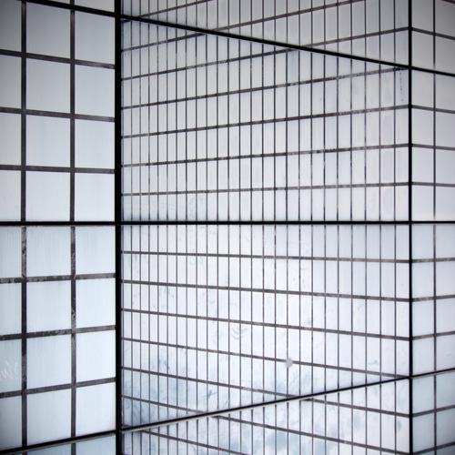 illusion of perception Discern Square Cube Line Pattern Black White Architecture Signs and labeling Black & white photo Irritation