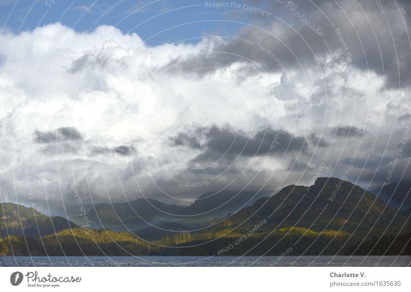 Blue Green White Landscape Clouds Dark Mountain Autumn Coast Gray Moody Illuminate Island Threat Adventure Might