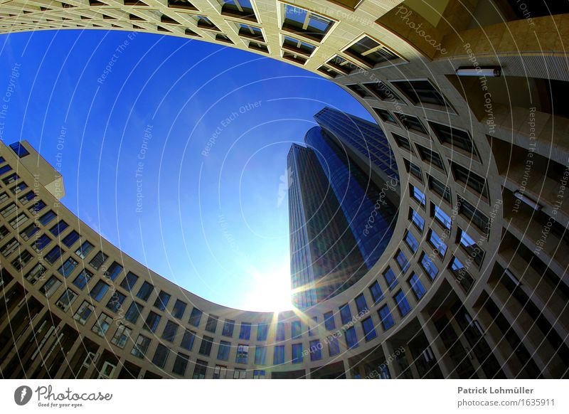 Sky City Sun Environment Architecture Building Germany Facade Office High-rise Concrete Beautiful weather Manmade structures Skyline Landmark
