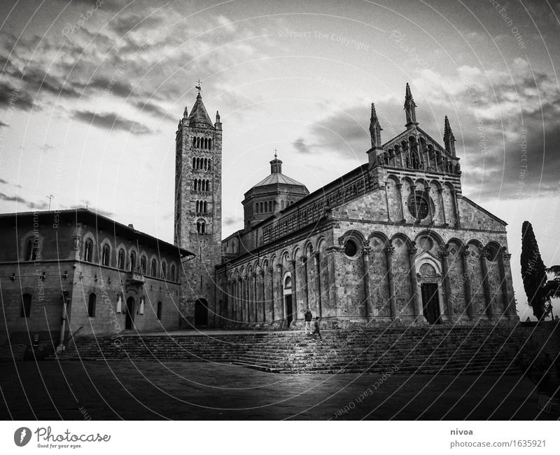 Massa marittima Vacation & Travel Tourism Trip Sightseeing City trip 2 Human being Sky Clouds Spring Weather Italy Small Town Downtown Church Dome Places