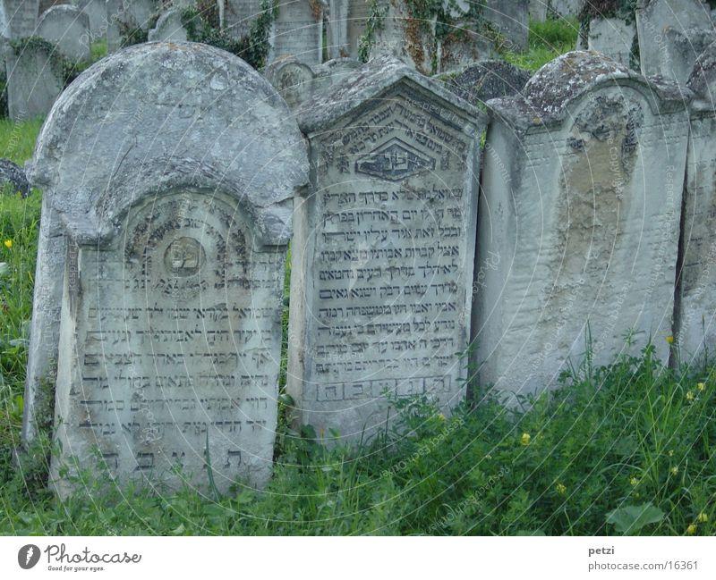 gravestones Tombstone Grass Characters Old Derelict