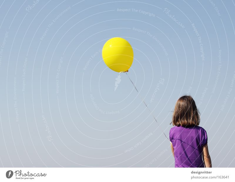 Girl Freedom Child Room Flying Free Balloon Easy Smooth Ease Go up Fragile Vulnerable