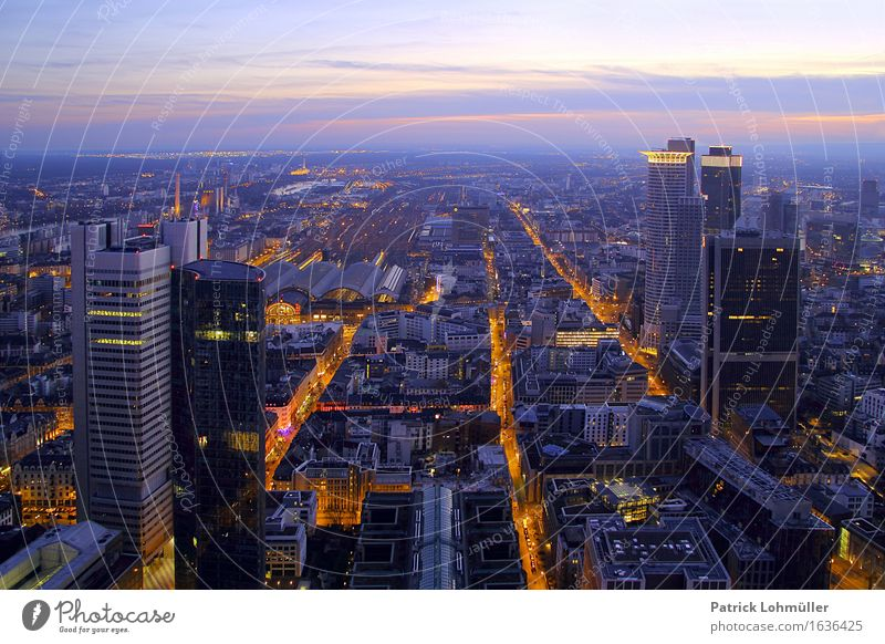 Sky City Architecture Building Germany Line Horizon Design Office Modern High-rise Europe Concrete Beautiful weather Manmade structures Skyline