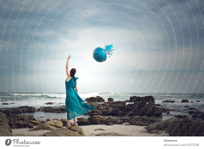 when jellyfish fly Life Harmonious Well-being Senses Relaxation Calm Trip Adventure Far-off places Freedom Beach Ocean Waves Human being Feminine Woman Adults 1