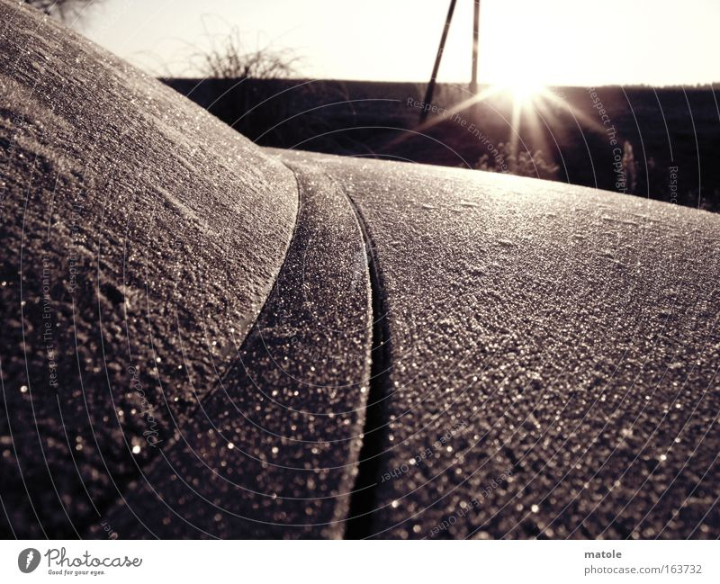 Winter Cold Horizon Ice Decoration Esthetic Transience Protection Frost Coat Surface Crystal structure Delicate Rough Ice crystal Hissing