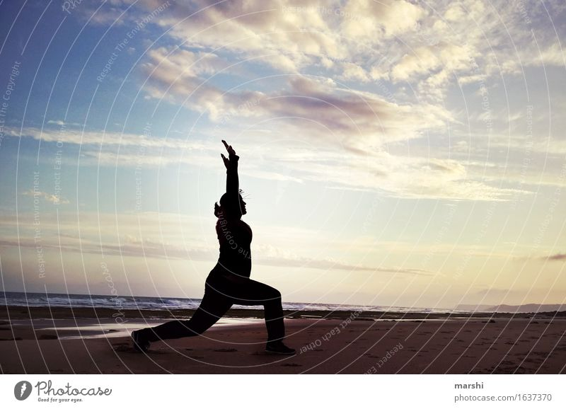 Human being Woman Sky Vacation & Travel Relaxation Beach Far-off places Travel photography Life Movement Sports Athletic Dusk Yoga