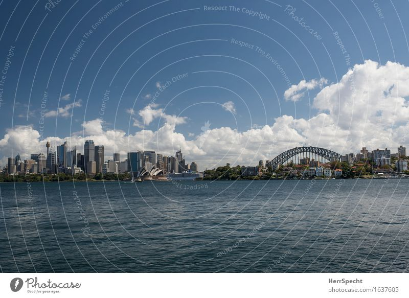 Most beautiful view Sydney Australia New South Wales Port City Downtown Skyline High-rise Bridge Manmade structures Building Architecture Tourist Attraction