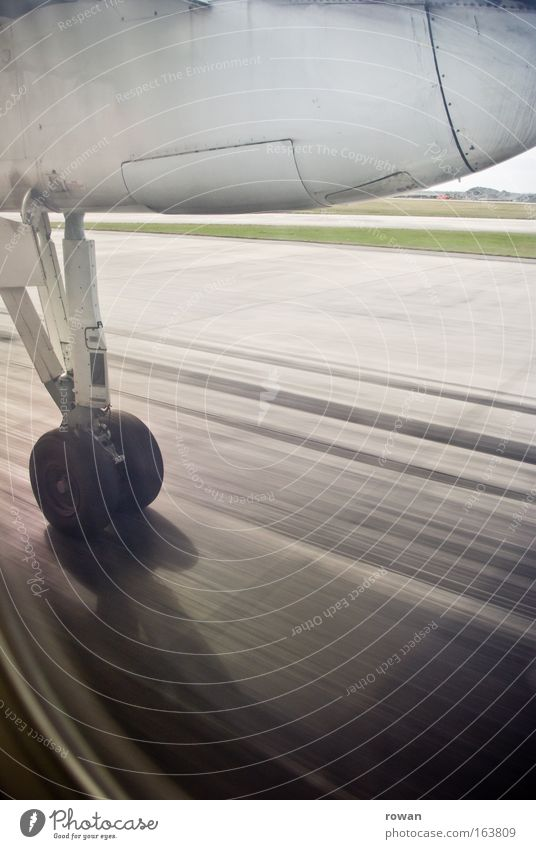 Vacation & Travel Airplane Flying Speed Aviation Logistics Tourism Travel photography Airplane takeoff Airport Tire Airplane landing Departure Runway Airfield