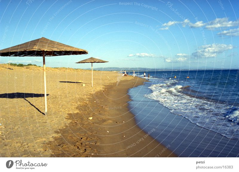 Sky Ocean Beach Joy Clouds Far-off places Coast Happy Waves Contentment Happiness Europe Greece