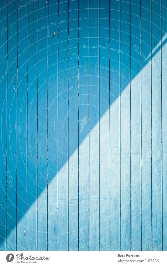 blue wooden boards, sun and shade Manmade structures Building Wall (barrier) Wall (building) Facade Wood Line Esthetic Blue Design Colour Diagonal Wooden board