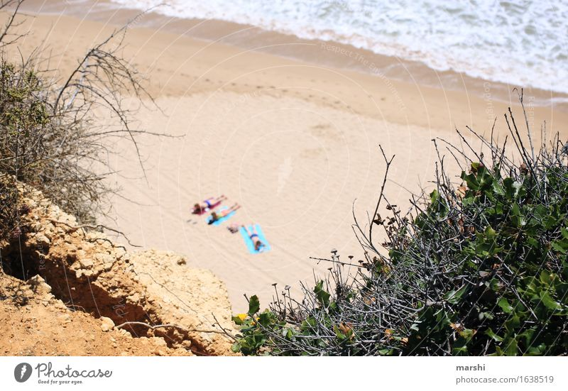beach day Leisure and hobbies Human being 3 Nature Landscape Plant Coast Ocean Emotions Moody Tighten Swimming & Bathing Portugal Algarve Vacation & Travel