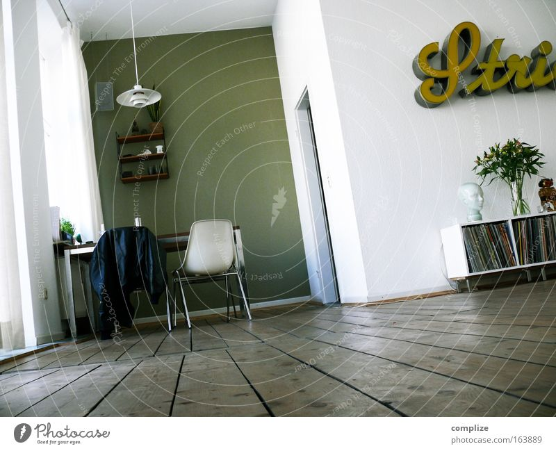 Plant Lamp Wall (building) Style Music Wood Wall (barrier) Room Flat (apartment) Culture Design Signs and labeling Table Lifestyle Retro Cable