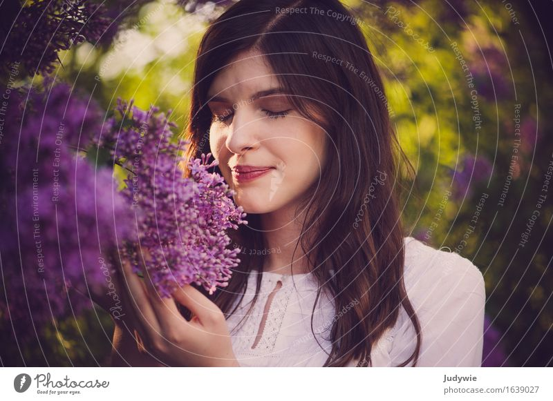 Human being Woman Nature Youth (Young adults) Plant Summer Young woman Beautiful Flower Relaxation Calm 18 - 30 years Adults Environment Spring Lifestyle