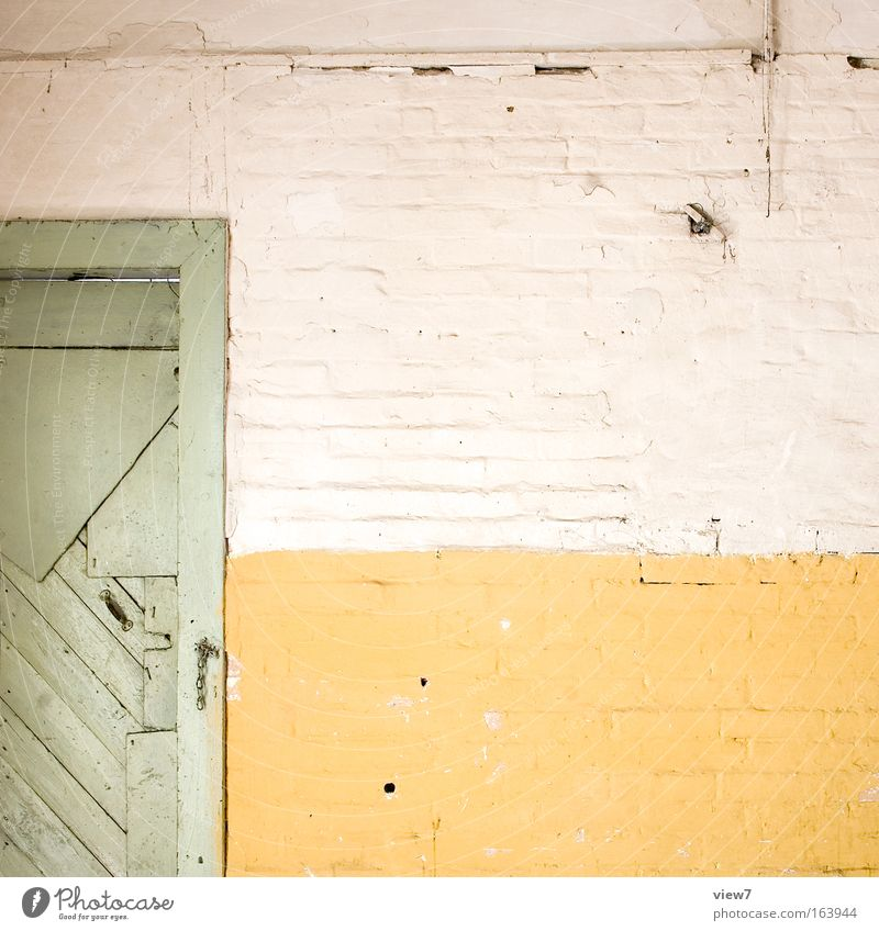 Old White Green House (Residential Structure) Yellow Wall (building) Wood Stone Sadness Wall (barrier) Dirty Door Concrete Time Facade Arrangement