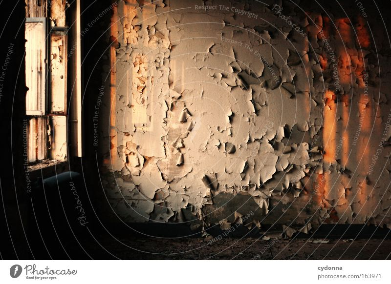 Calm Loneliness Life Wall (building) Window Architecture Dream Wall (barrier) Sadness Dye Room Time Esthetic Safety Hope Retro