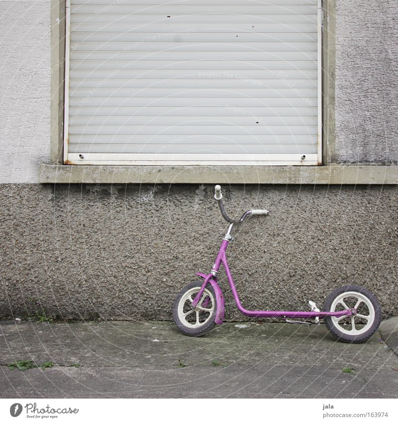 House (Residential Structure) Window Fear Pink Facade Toys Infancy Caution Criminality Parenting Scooter Punish Kidnap