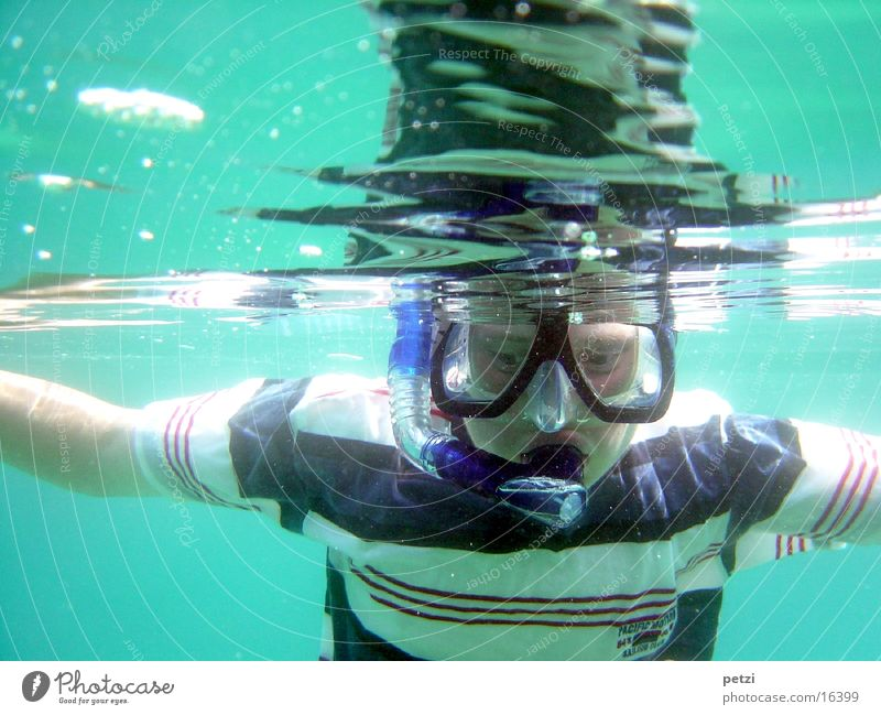 Snorkel, snorkel Ocean Sports Mask Joy Happy Happiness Joie de vivre (Vitality) Vacation & Travel Leisure and hobbies Diving equipment Air bubble Colour photo
