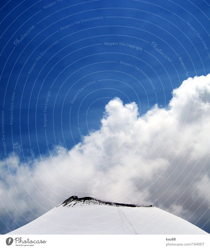 Blue Winter Black Clouds Cold Snow Above Mountain Lanes & trails Ice Blaze Tall Earth Fire Italy Tracks