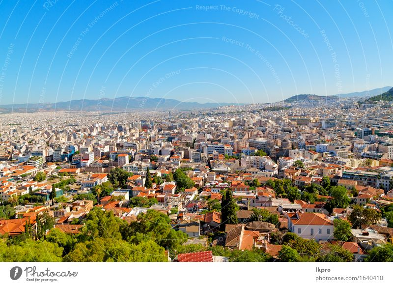 greece and congestion of houses new architecture Vacation & Travel Mountain House (Residential Structure) Culture Landscape Sky Tree Hill Small Town Building
