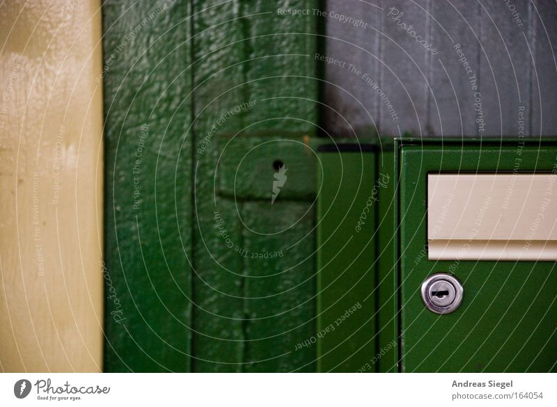 Green Wall (building) Gray Wall (barrier) Gold Communicate Write Mail Lock Mailbox