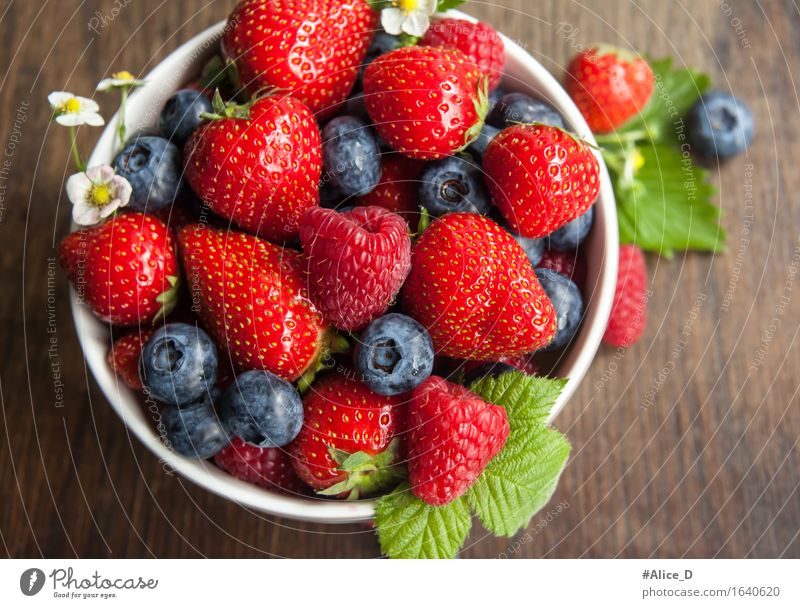 "Berries season Healthy Healthy Eating Nature Fresh Good Delicious Natural Juicy Blue Brown Multicoloured Green Red ""Strawberries Raspberry blueberries"
