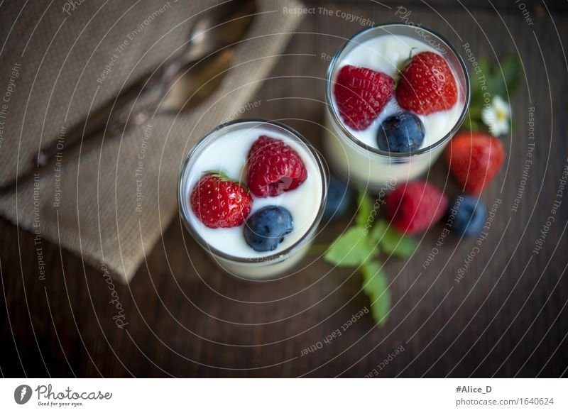 Nature Healthy Eating Natural Food Fruit Nutrition Glass To enjoy Sweet Delicious Near Organic produce Breakfast Dessert Berries
