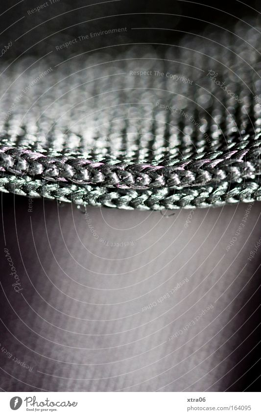 fabric Subdued colour Interior shot Close-up Detail Macro (Extreme close-up) Copy Space bottom Cloth Simple Elegant Silver Belt Knitted left stitch right-wing