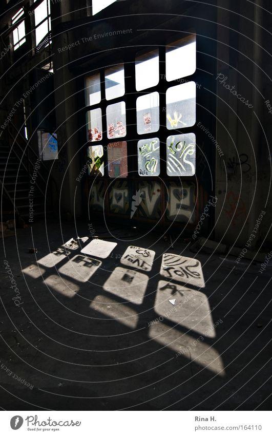 Old Joy Loneliness Black Wall (building) Window Emotions Graffiti Wall (barrier) Building Art Glass Concrete Tall Cool (slang) Romance