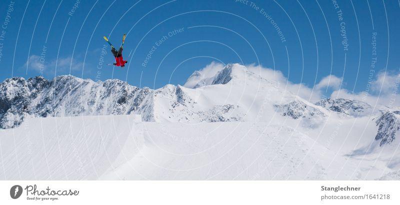 Sky Blue White Sun Landscape Mountain Movement Sports Snow Happy Ice Study Beautiful weather Adventure Peak Frost