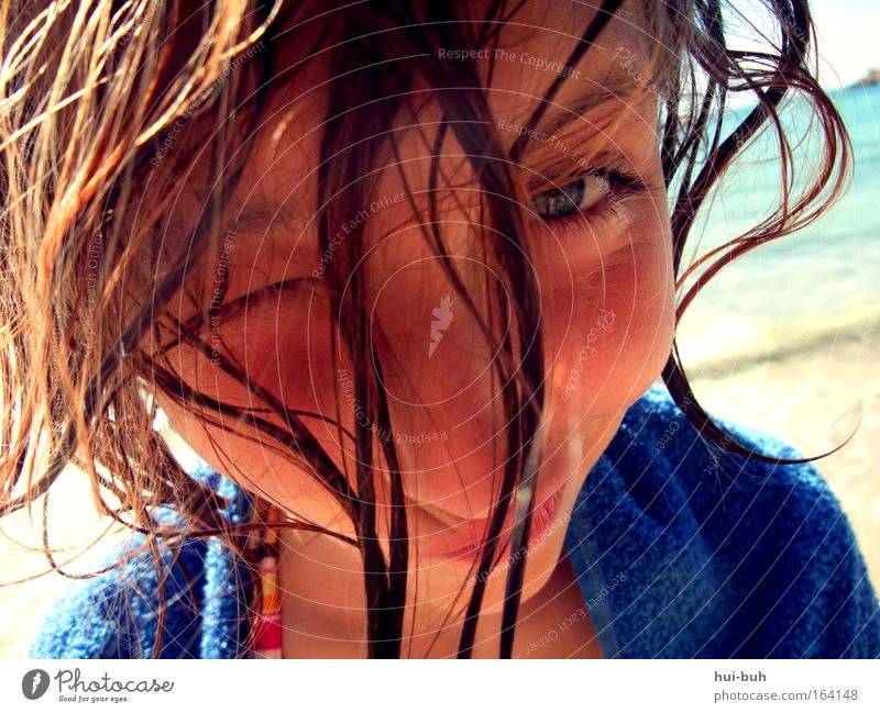 Human being Child Youth (Young adults) Beautiful Girl Summer Vacation & Travel Ocean Joy Beach Feminine Life Freedom Emotions Happy