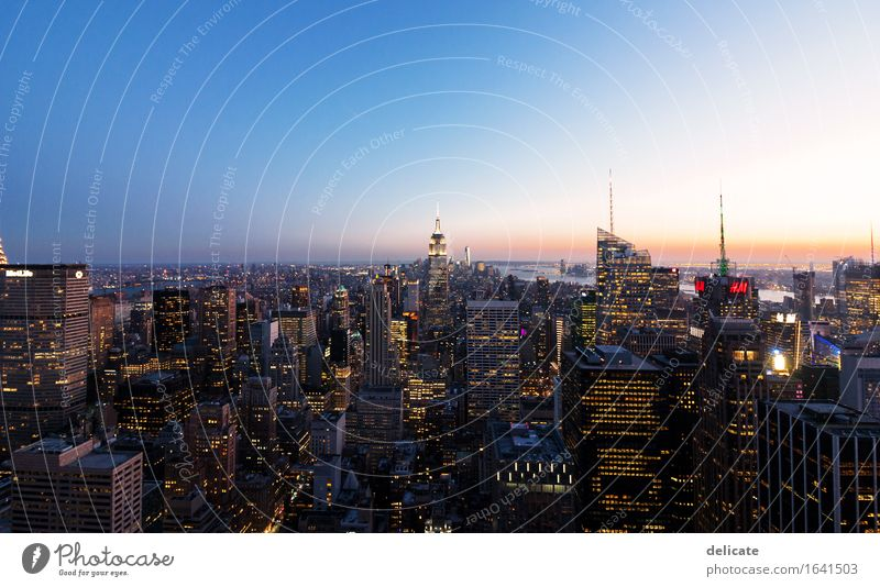 manhattan New York City Americas North America USA Capital city Downtown Skyline High-rise Manmade structures Building Architecture Tourist Attraction Landmark