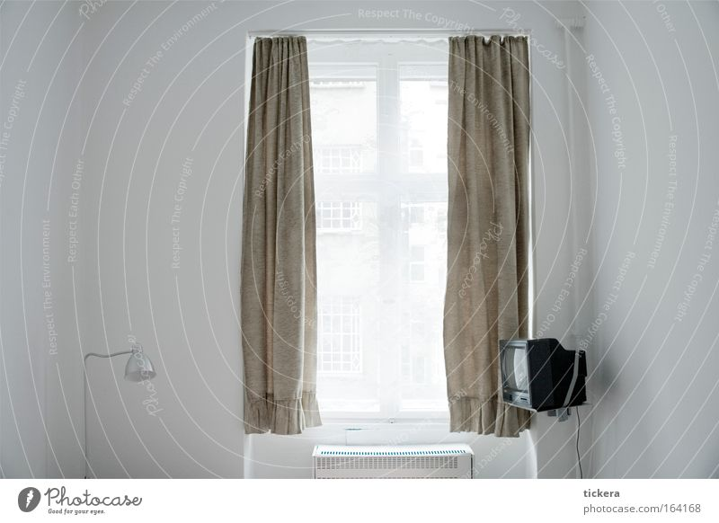Hotel room Berlin Colour photo Interior shot Copy Space left Copy Space right Central perspective Calm Living or residing Flat (apartment) Lamp Room Bedroom