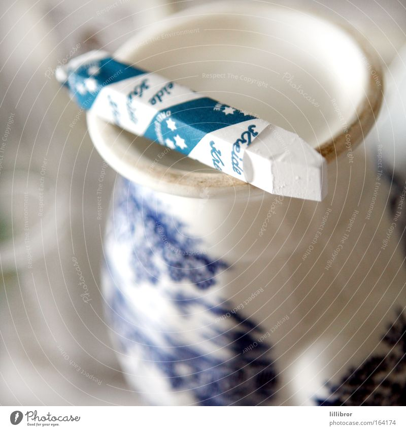 white as chalk Colour photo Interior shot Close-up Experimental Pattern Deserted Day Blur Shallow depth of field Stationery Decoration Collector's item Chalk