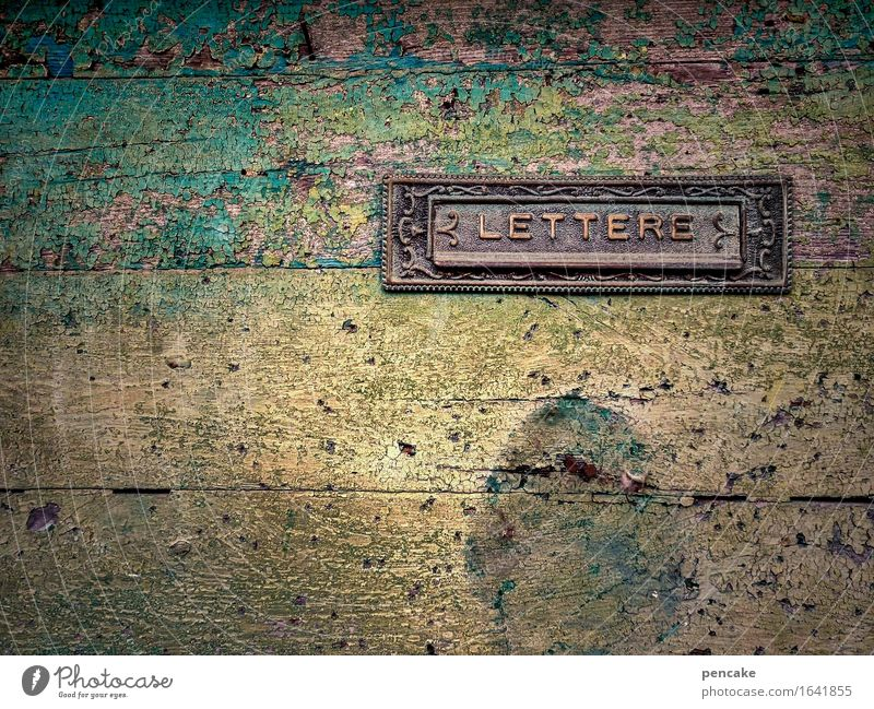 City Senior citizen Wood Brown Metal Door Power Idyll Signs and labeling Authentic Communicate Retro Culture Italy Transience