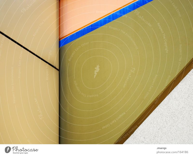 White Blue Yellow Style Line Brown Architecture Background picture Design Facade Esthetic Corner Stripe Illustration Beige
