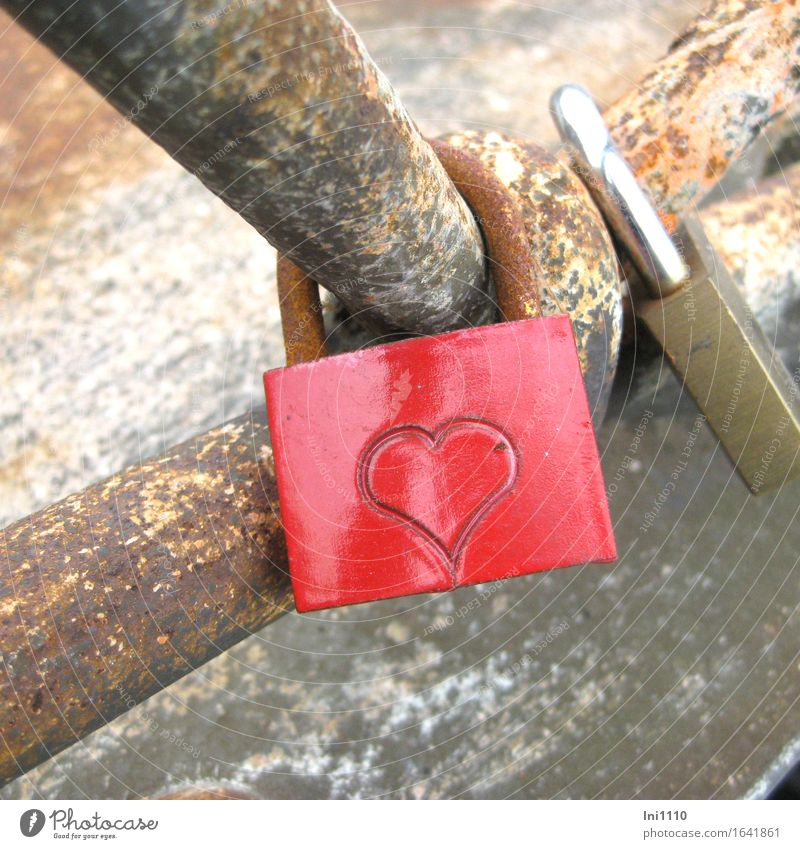Red Love Gray Feasts & Celebrations Brown Metal Gold Communicate Heart Bridge Sign To hold on Hip & trendy Lovers Rust Jewellery