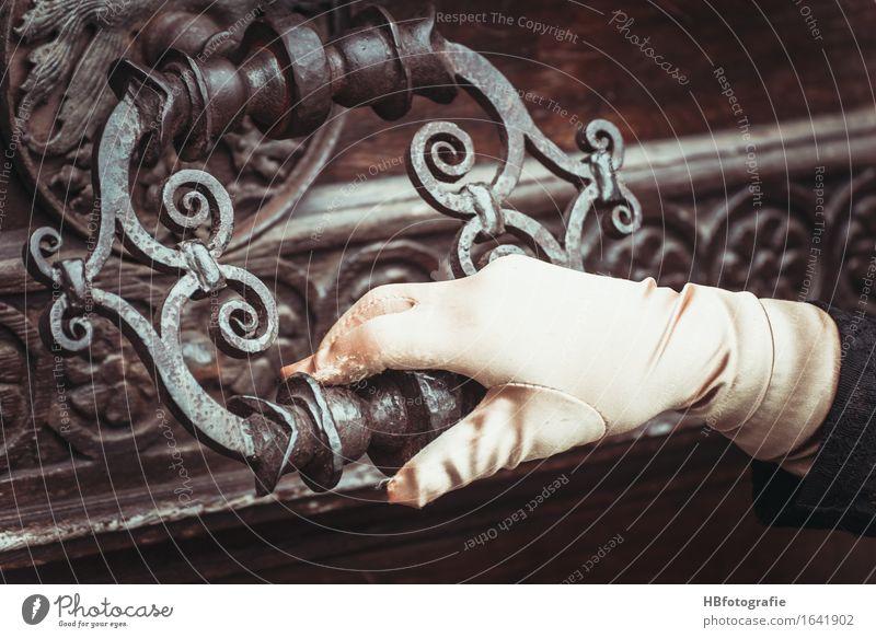 Hand Dark Metal Door Fingers Adventure Historic Discover Carnival Creepy Entrance Lock Key Accessory Door handle Gloves