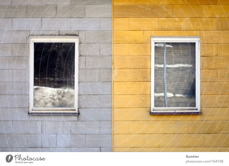 double house Colour photo Subdued colour Exterior shot Detail Experimental Pattern Deserted Copy Space top Copy Space bottom Day Contrast Central perspective