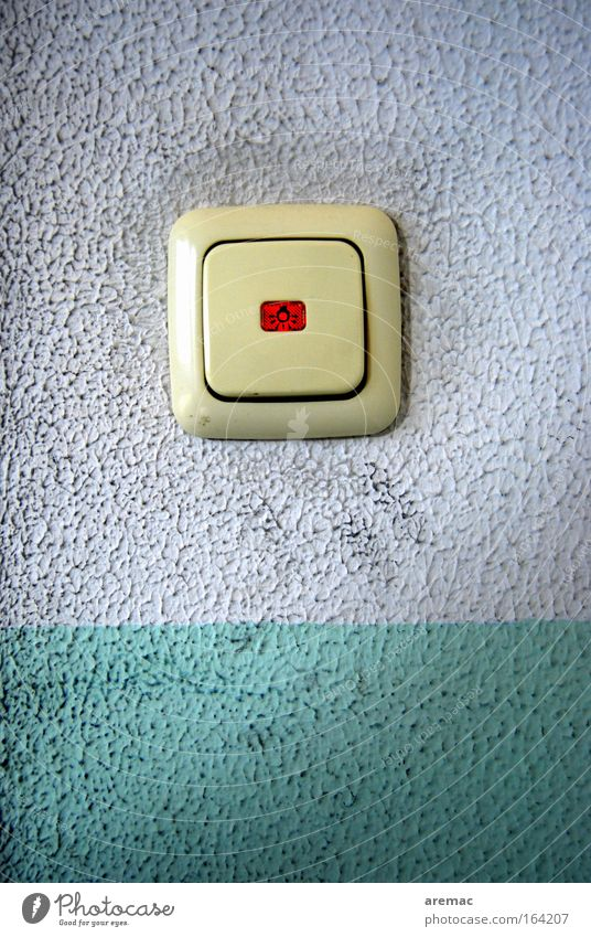 White Blue Dirty Concrete Technology Craft (trade) Switch Light switch