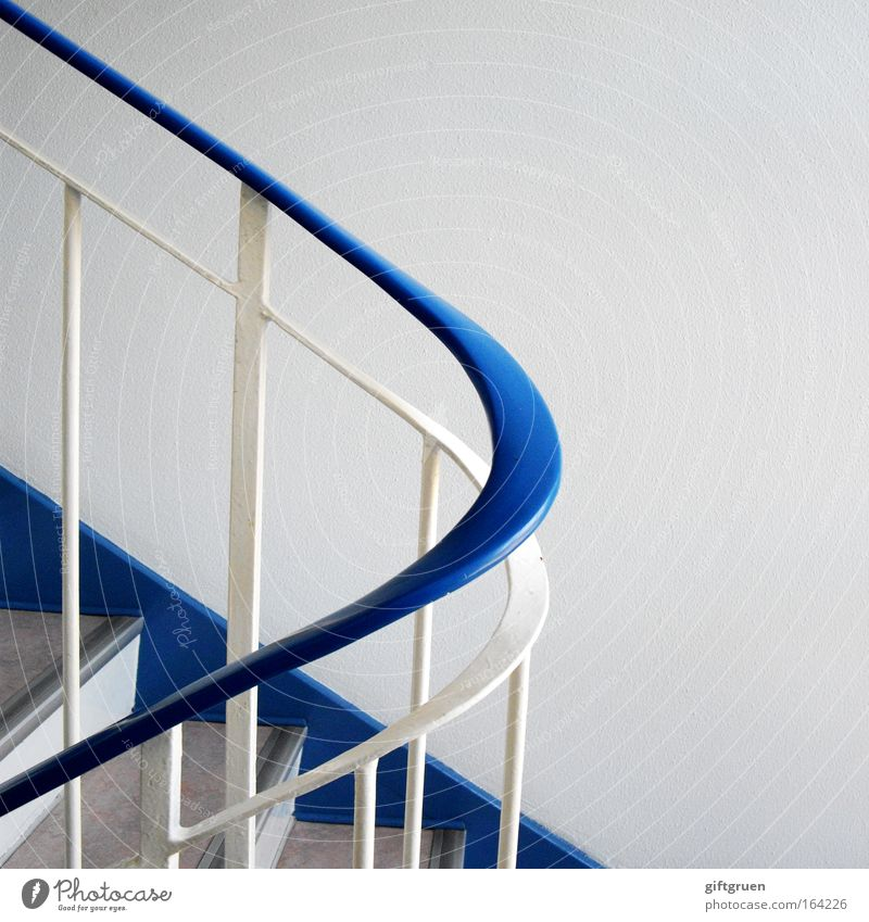 White Blue House (Residential Structure) Above Movement Line Bright Flat (apartment) Going Elegant Tall Stairs Arrangement Esthetic Clean Living or residing