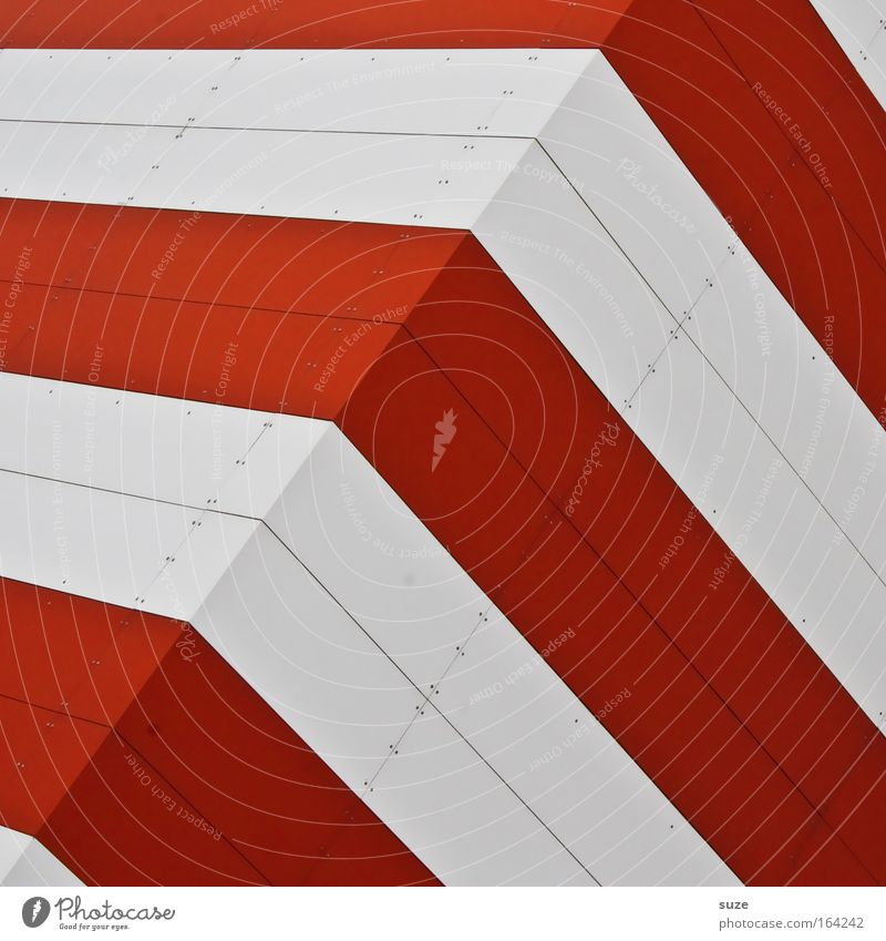 White Red Wall (building) Wall (barrier) Line Metal Art Architecture Concrete Facade Modern New Factory Simple Clean