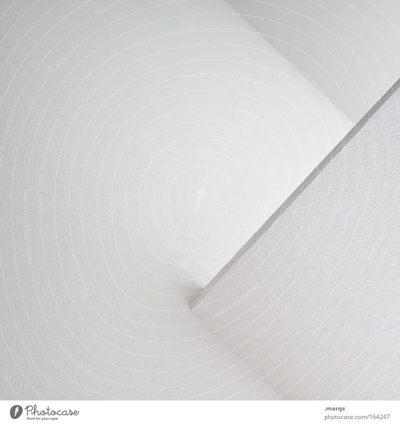 White Wall (building) Style Wall (barrier) Line Architecture Design Elegant Concrete Esthetic Corner Simple Clean Manmade structures Illustration