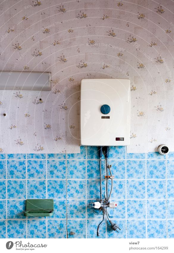 Water Old Blue Room Small Time Energy industry Bathroom Kitsch Decoration Transience Interior design Exceptional Wallpaper Furniture Decline