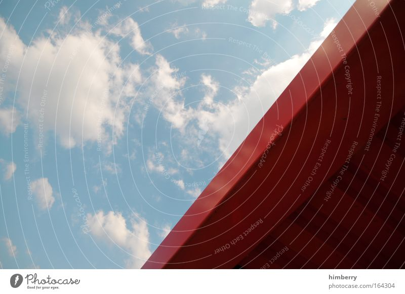 Sky Blue Red Clouds Environment Architecture Style Metal Power Design Success Future Construction site Uniqueness Simple Factory