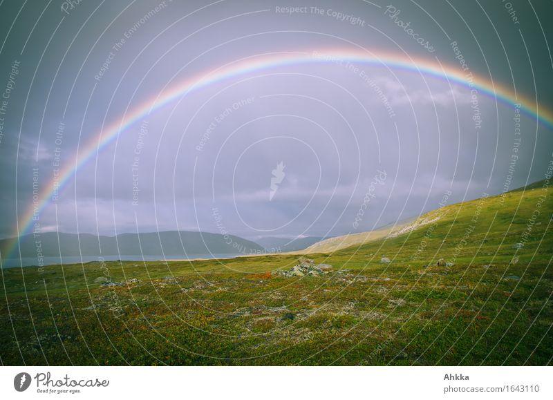 electric arc Landscape Elements Bad weather Rain Meadow Mountain Gate Illuminate Belief Religion and faith Far-off places Future Rainbow Colour photo