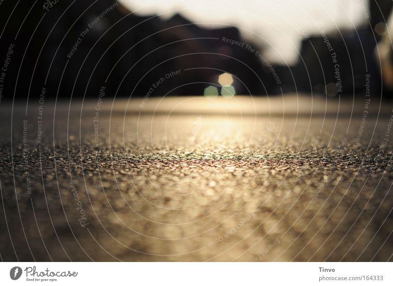 Calm Black Street Dark Sadness Lanes & trails Brown Road traffic Gold Transience Longing Idyll Under Motoring Home country Homesickness