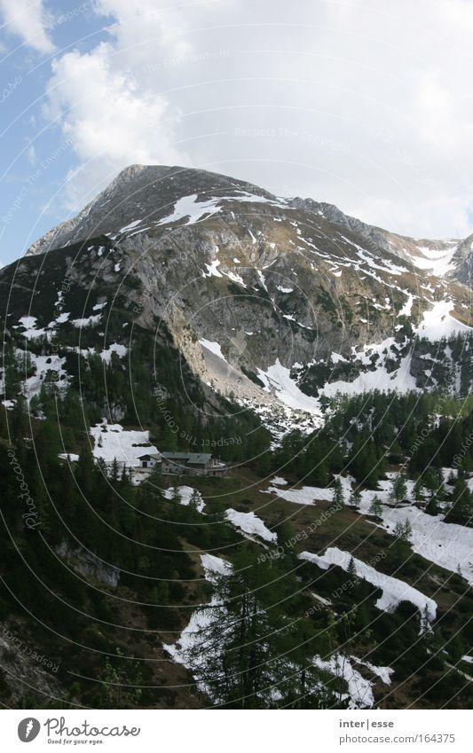 Sky Tree Clouds Loneliness Landscape Cold Snow Mountain Air Rock Alps Peace Beautiful weather Peak Alpine pasture Berchtesgaden Alpes