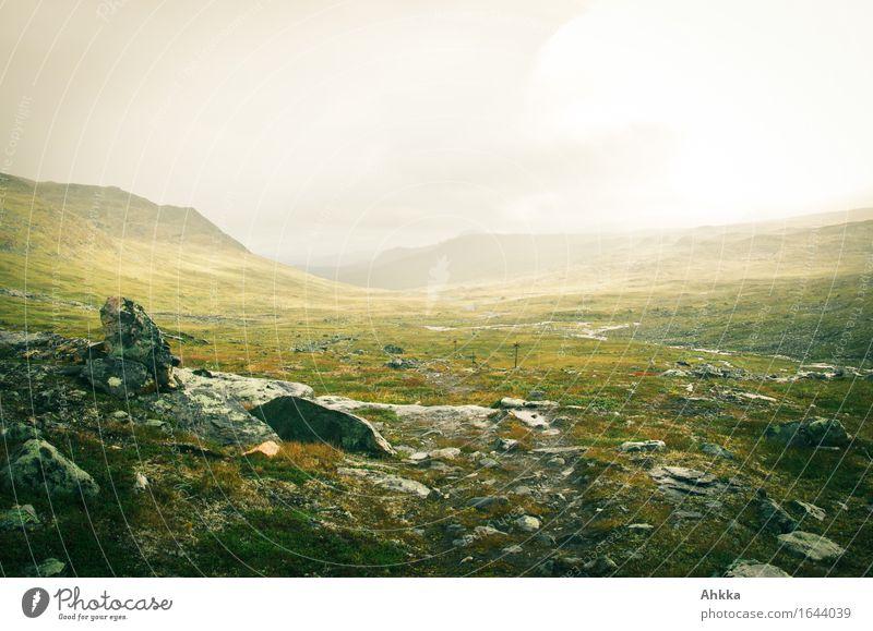 tundra Senses Meditation Vacation & Travel Adventure Sunlight Bad weather Fog Rain Mountain Sign Glittering Infinity Wild Sadness Concern Grief Wanderlust